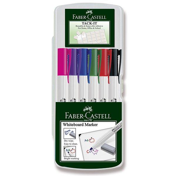 Psací potřeby - Popisovač Faber-Castell Slim Whiteboard Marker 6 barev, standardní barvy