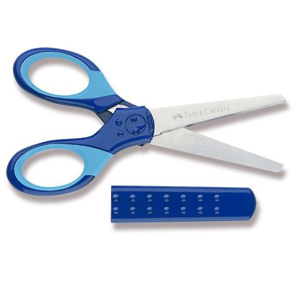 Psací potřeby - Školní nůžky Faber-Castell modré