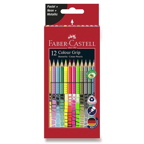 Psací potřeby - Pastelky Faber-Castell Grip 2001 speciální edice, 12 barev