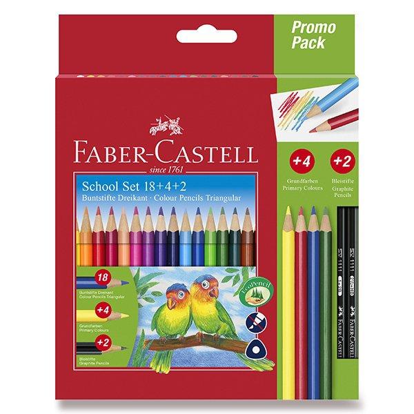 Psací potřeby - Pastelky Faber-Castell trojhranné 18 barev