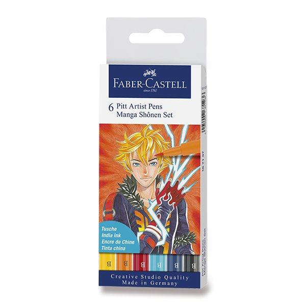 Psací potřeby - Popisovač Faber-Castell Pitt Artist Pen Manga 6 kusů, Shonen