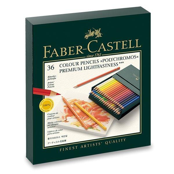 Psací potřeby - Pastelky Faber-Castell Polychromos studio box, 36 ks