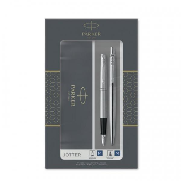 Psací potřeby - Parker Jotter Stainless Steel CT sada plnicí pero a kuličková tužka