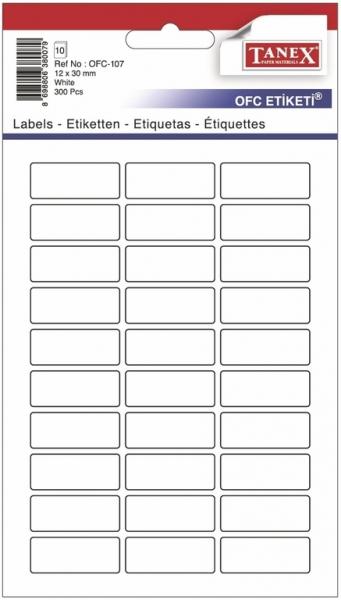 Papír tiskopisy - Etikety v sáčku 12 x 30 300ks OFC-107