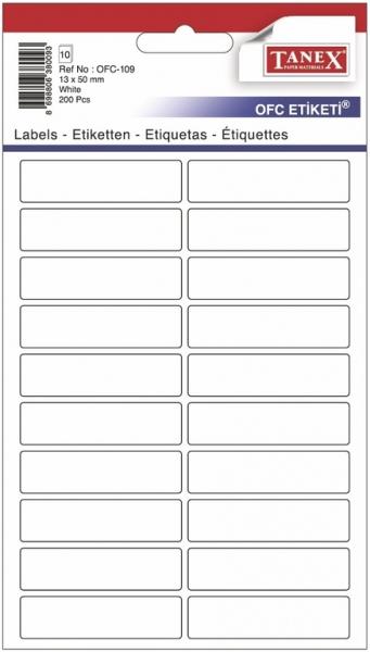 Papír tiskopisy - Etikety v sáčku 13 x 50 200ks OFC-109