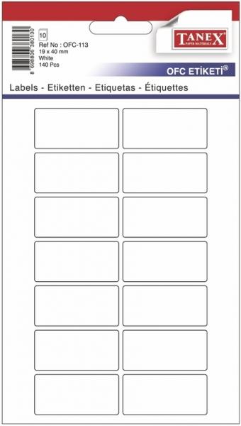 Papír tiskopisy - Etikety v sáčku 19 x 40 140ks OFC-113