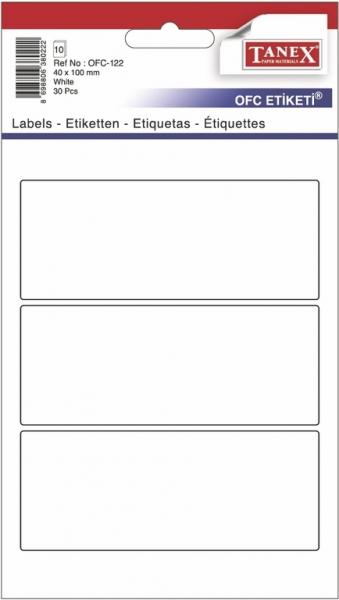 Papír tiskopisy - Etikety v sáčku 40 x 100 30ks OFC-122