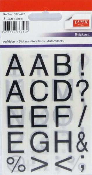 Papír tiskopisy - Etikety písmena STC-422 16x19 60ks