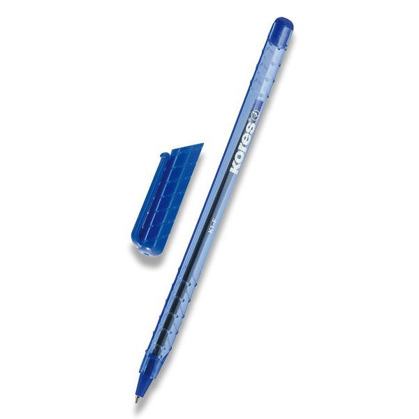 Psací potřeby - Kuličková tužka Kores 395 K1 modrá