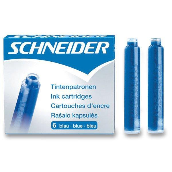 Psací potřeby - Inkoustové bombičky Schneider, 6 ks modré