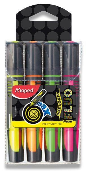Psací potřeby - Zvýrazňovač Maped Fluo Peps Max sada 4 barev