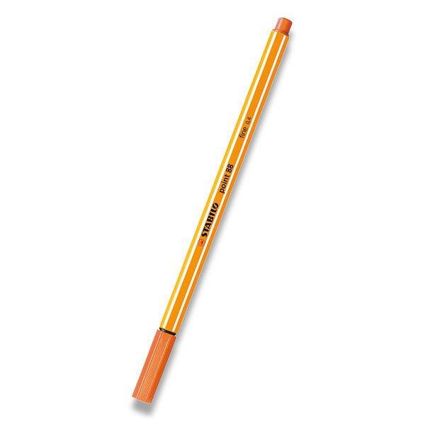 Psací potřeby - Liner Stabilo Point 88 oranžový, neon