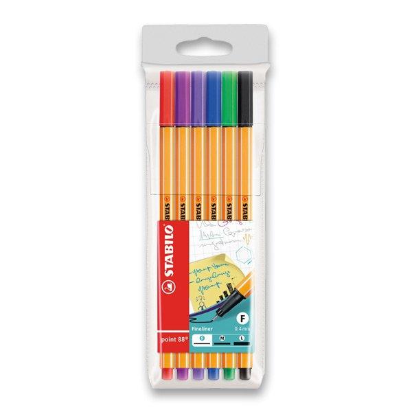 Psací potřeby - Liner Stabilo Point 88 sada 6 barev