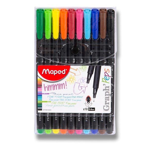 Psací potřeby - Liner Maped Graph´Peps sada 10 barev