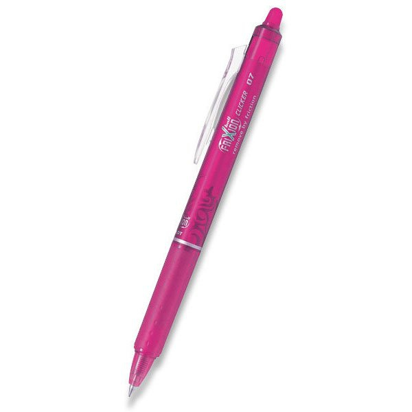 Psací potřeby - Roller Pilot 2061 FriXion Clicker 07 růžový