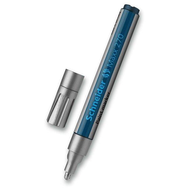 Psací potřeby - Popisovač Schneider Maxx  270 stříbrný