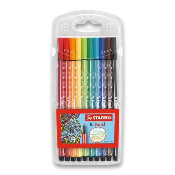 Psací potřeby - Fixy Stabilo Pen 68 10 barev