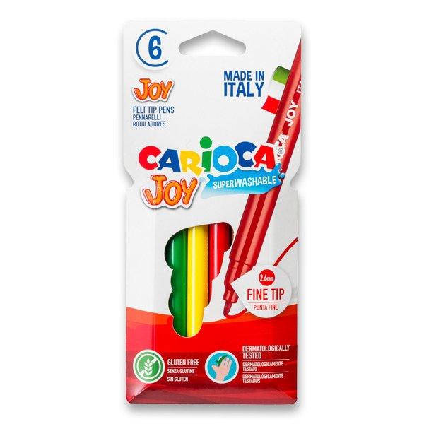 Psací potřeby - Dětské fixy Carioca Joy 6 barev