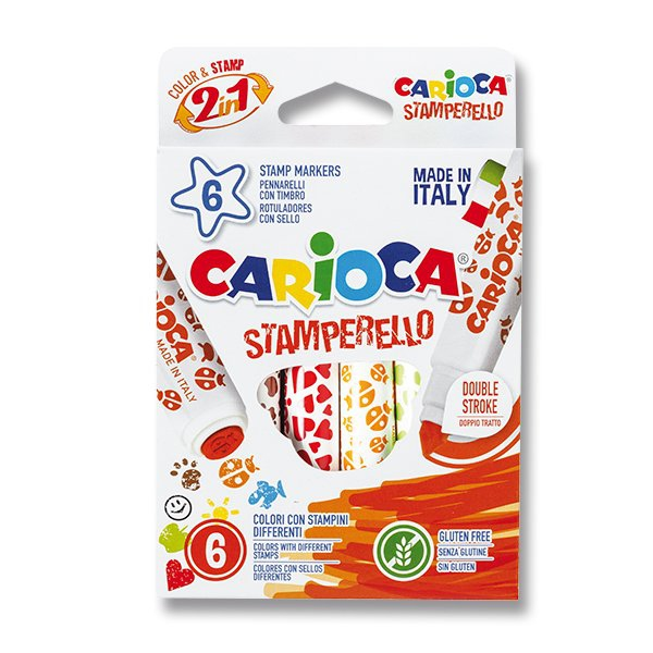 Psací potřeby - Fixy Carioca Stamp Markers 6 barev