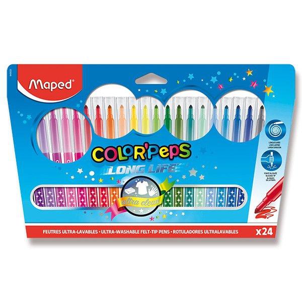 Psací potřeby - Dětské fixy Maped Color´Peps Long Life 24 barev