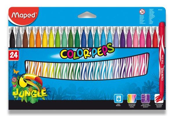 Psací potřeby - Dětské fixy Maped Color´Peps Jungle 24 barev
