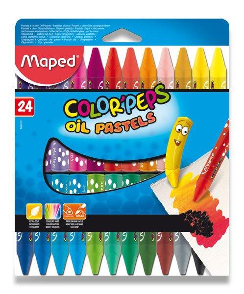 Psací potřeby - Olejové pastely Maped Color´Peps Oil Pastels 24 barev