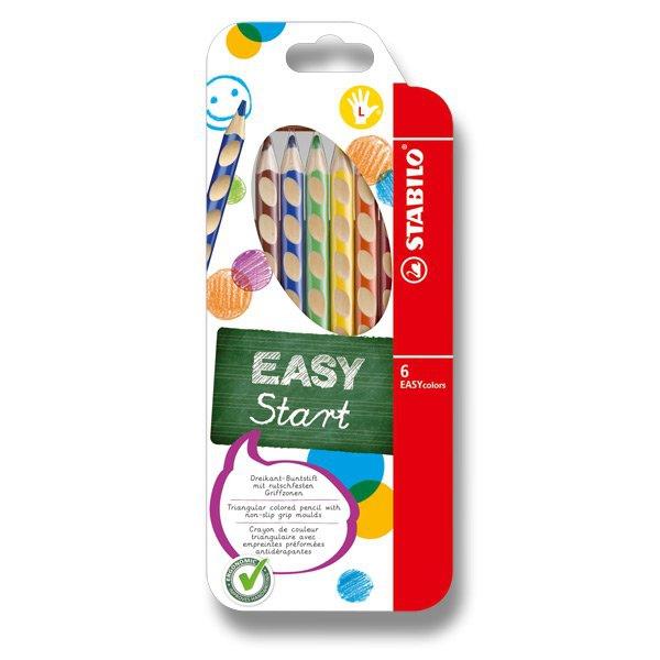 Psací potřeby - Pastelky Stabilo EASYcolors 6 barev, pro leváky