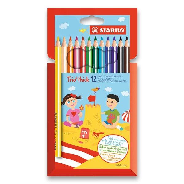 Psací potřeby - Pastelky Stabilo Trio 12 barev
