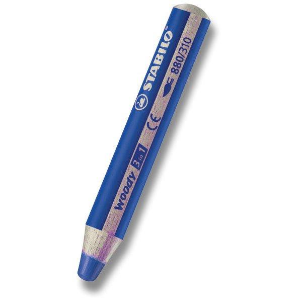 Psací potřeby - Pastelka Stabilo Woody 3 in 1 modrá