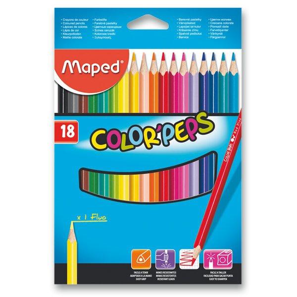 Psací potřeby - Pastelky Maped Color´Peps 18 barev