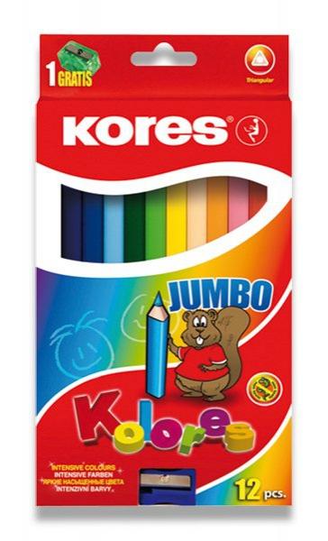 Psací potřeby - Pastelky Kores Kolores Jumbo 12 barev