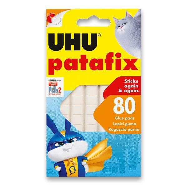 Kancelářské potřeby - Samolepicí montážní guma UHU Tac Patafix Tajný život mazlíčků 2 bílá, 80 ks