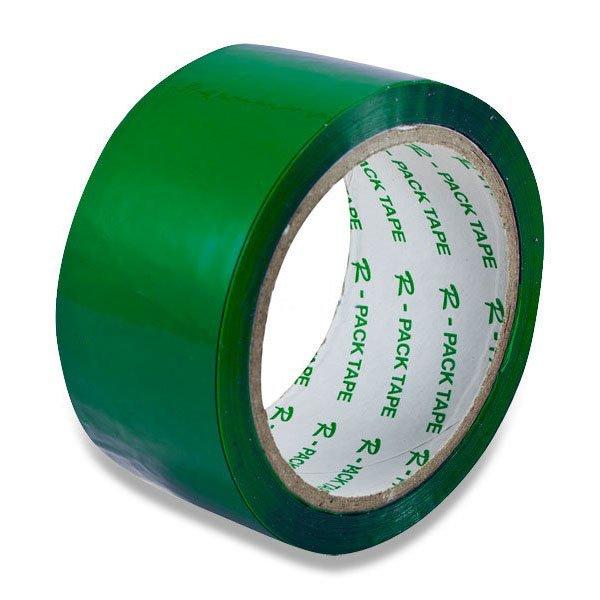 Obalový materiál drogerie - Barevná samolepicí páska Reas Pack zelená