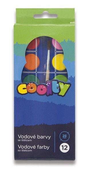 Školní a výtvarné potřeby - Vodové barvy Coolty 12 barev, průměr 28 mm