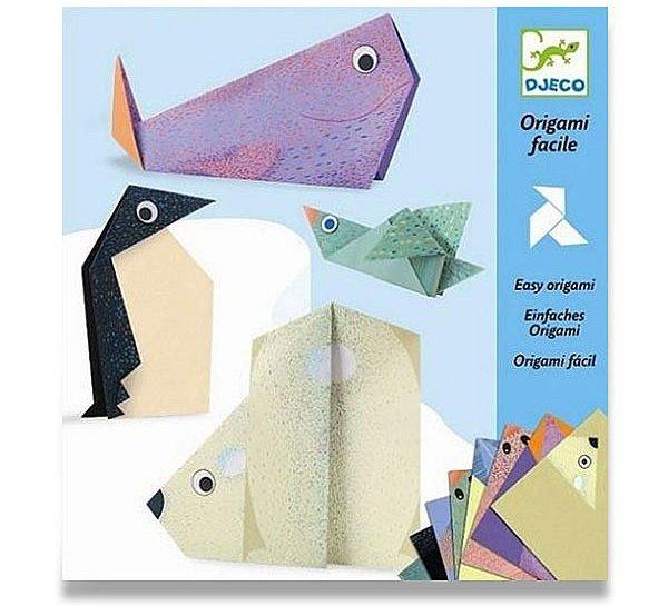 Školní a výtvarné potřeby - Origami skládačka Djeco - Polární zvířata