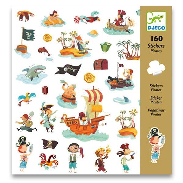 Školní a výtvarné potřeby - Samolepky Djeco Piráti