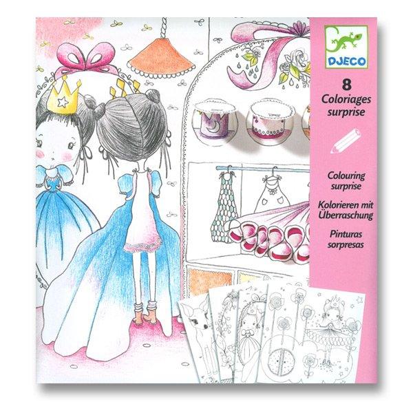 Školní a výtvarné potřeby - Odkrývací obrázky Djeco - Holčička