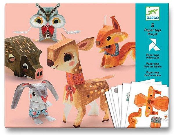 Školní a výtvarné potřeby - Origami skládačka Djeco - Zvířata
