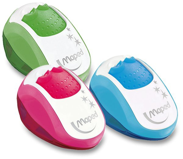 Kancelářské potřeby - Ořezávátko Maped Clean - s odpadní nádobkou 2 otvory, mix barev
