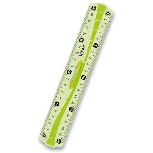 Školní a výtvarné potřeby - Pravítko Maped Unbreakable oboustranné 20 cm, mix barev