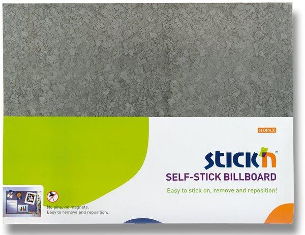Kancelářské potřeby - Samolepicí nástěnka Hopax Stick'n šedá, 58 x 46 cm