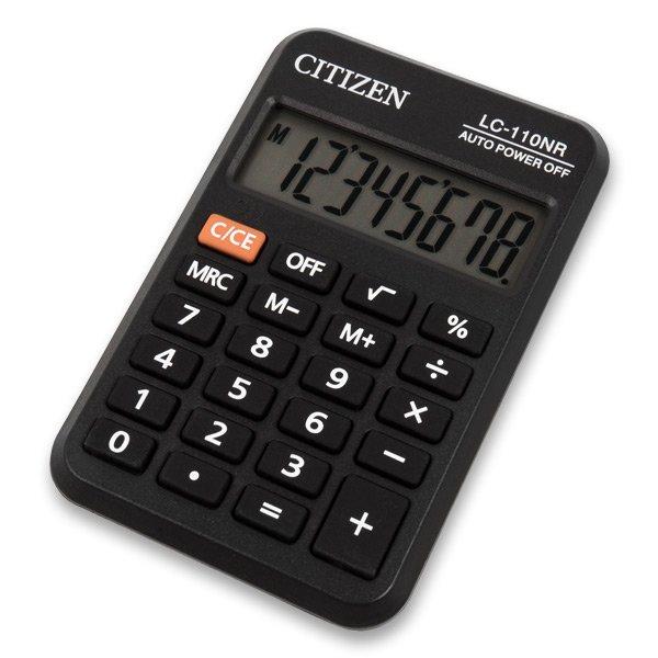 Kancelářské potřeby - Kapesní kalkulátor Citizen LC-110NR