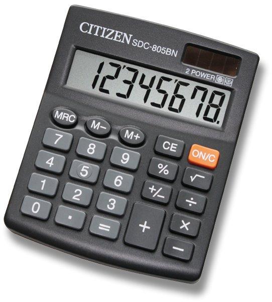 Kancelářské potřeby - Stolní kalkulátor Citizen SDC-805BN