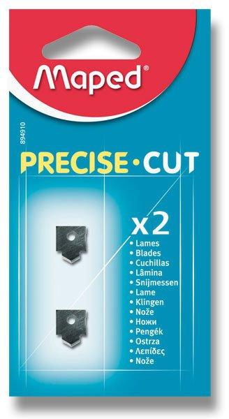 Kancelářské potřeby - Náhradní břity pro řezačku Maped Precise Cut 2 ks břitů, přímý řez