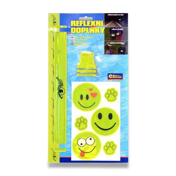 Školní a výtvarné potřeby - Set reflexních doplňků žluté, 8 ks
