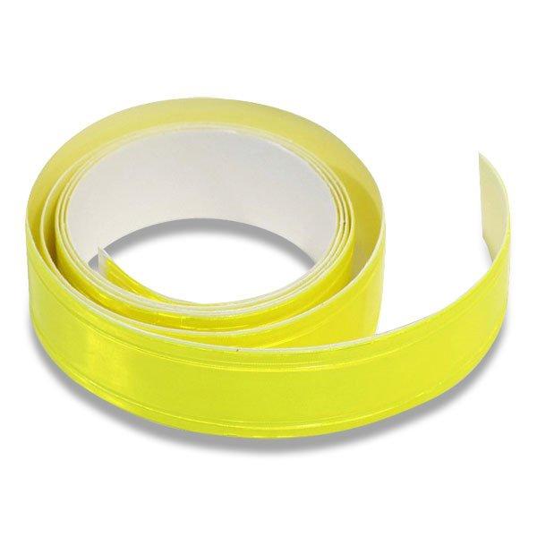 Školní a výtvarné potřeby - Samolepicí reflexní páska 2 cm x 90 cm žlutá