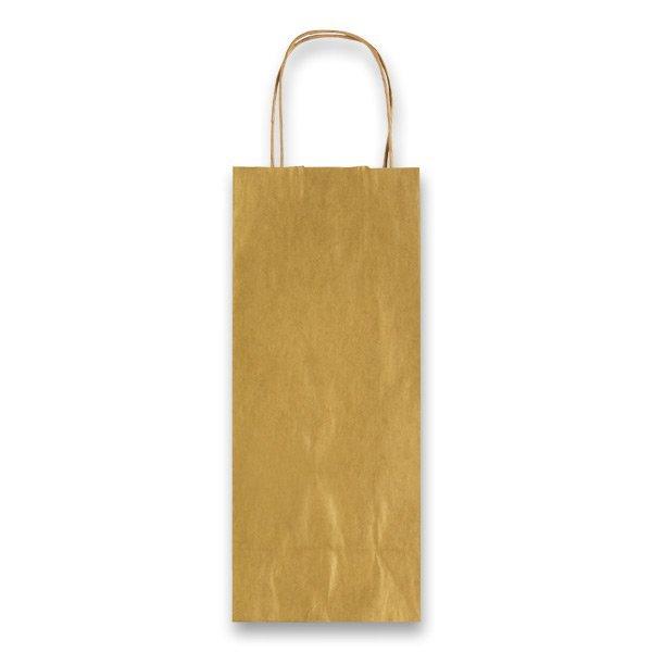 Obalový materiál drogerie - Dárková taška Allegra zlatá, lahev