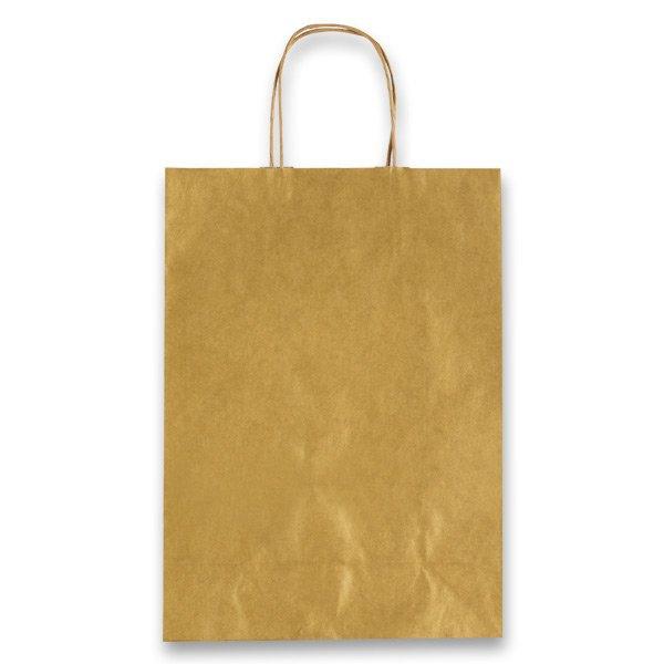 Obalový materiál drogerie - Dárková taška Allegra zlatá, XS