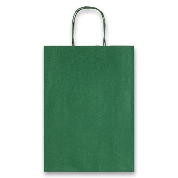 Obalový materiál drogerie - Dárková taška Allegra zelená, M