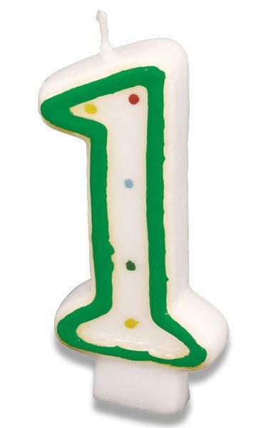 Školní a výtvarné potřeby - Dortová svíčka - 1